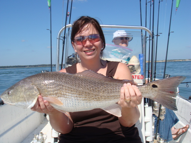 Myrtle beach redfish red drum fishing spots for Reel action fishing charters